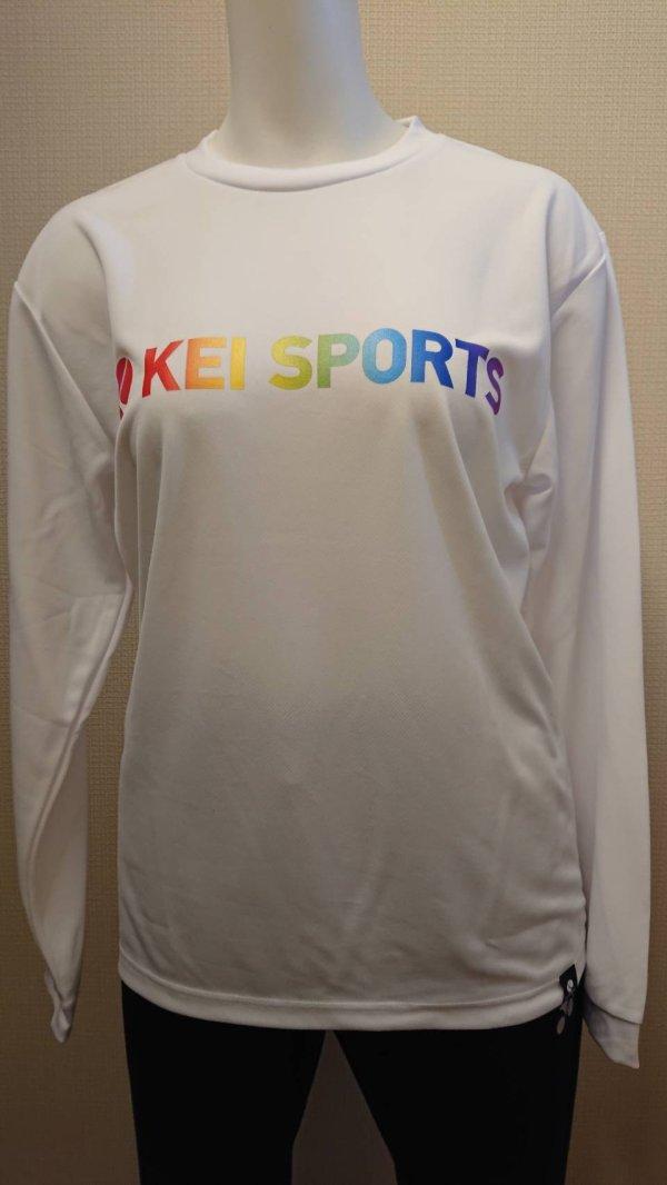 画像1: 【KEIスポーツ】レインボーロングTシャツ (1)