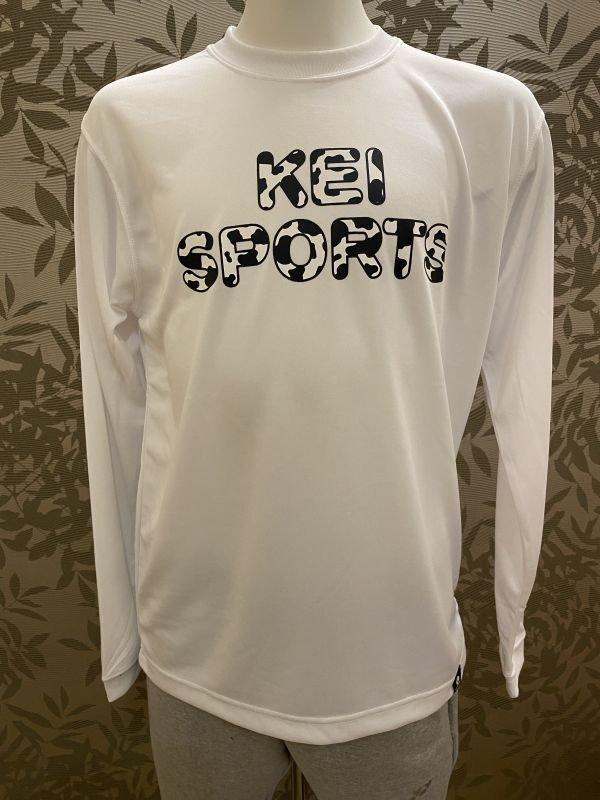 画像1: KEIスポーツ牛柄ロングTシャツ (1)